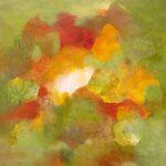 FEU VERT - Acrylique et techniques mixtes sur toile - 24 x 24 po / 61 x 61 cm
