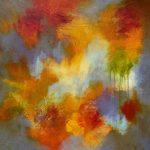 CLIN D'ŒIL - Acrylique et techniques mixtes sur toile - 24 x 24 po / 61 x 61 cm