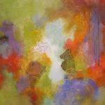 RÉVÉLATION - Acrylique et techniques mixtes sur toile - 24 x 24 po / 61 x 61 cm (non disponible)