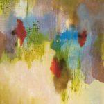 REMUE-MÉNINGES - Acrylique et techniques mixtes sur toile - 24 x 24 po / 61 x 61 cm