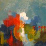 SYNERGIE - Acrylique et techniques mixtes sur toile - 24 x 24 po / 61 x 61 cm