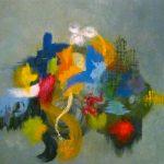CERVEAU DROIT - Acrylique sur toile - 24 x 24 po / 61 x 61 cm