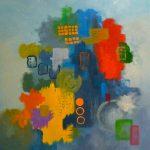 MIGRATION - Acrylique et techniques mixtes sur toile - 24 x 24 po / 61 x 61 cm
