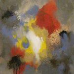 VESTIGES - Acrylique et techniques mixtes sur toile - 30 x 24 po / 76 x 61 cm