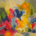 LIBERTÉ - Acrylique sur toile - 24 x 24 po / 61 x 61 cm