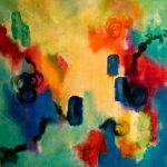 FRIVOLITÉ - Acrylique sur toile - 24 x 24 po / 61 x 61 cm