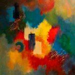 ALLÉGRESSE - Acrylique sur toile - 24 x 24 po/ 61 x 61 cm