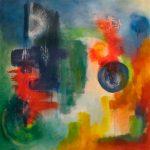 STRATÉGIES - Acrylique sur toile - 24 x 24 po / 61 x 61 cm