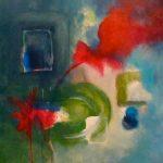 AILLEURS - Acrylique sur toile - 30 x 27 po / 75 x 69 cm