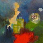 CURIOSITÉ - Acrylique sur toile - 29 x 29 po / 74x 74 cm