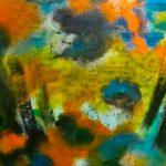 ÉMERGENCE - Acrylique sur toile - 25 x 27 po / 64 x 69 cm
