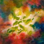 ÉVANESCENCE - Acrylique sur toile - 28 x 27 po / 71 x 69 cm