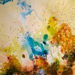 DIVAGATIONS - Acrylique sur toile - 26 x 22 po / 66 x 56 cm