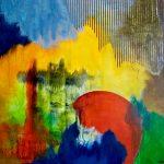 COUP DE THÉÂTRE - Acrylique et techniques mixtes sur toile - 24 x 30 po / 61 x 76 cm