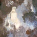AU FIL DU TEMPS - Acrylique et techniques mixtes sur toile - 24 x 24 po / 61 x 61 cm