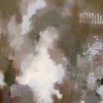 RÉSONANCE - Acrylique et techniques mixtes sur toile - 24 x 24 po / 61 x 61 cm