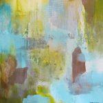 SCÉNARIO - Acrylique et techniques mixtes sur toile - 24 x 24 po / 61 x 61 cm