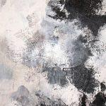 SAUT DANS LE VIDE - Acrylique et techniques mixtes sur toile - 48 x 24 po / 122 x 61 cm