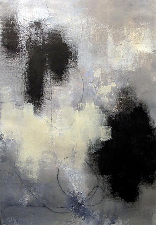 DIALOGUE - Acrylique et graphisme sur toile - 40 x 26 po / 102 x 66 cm