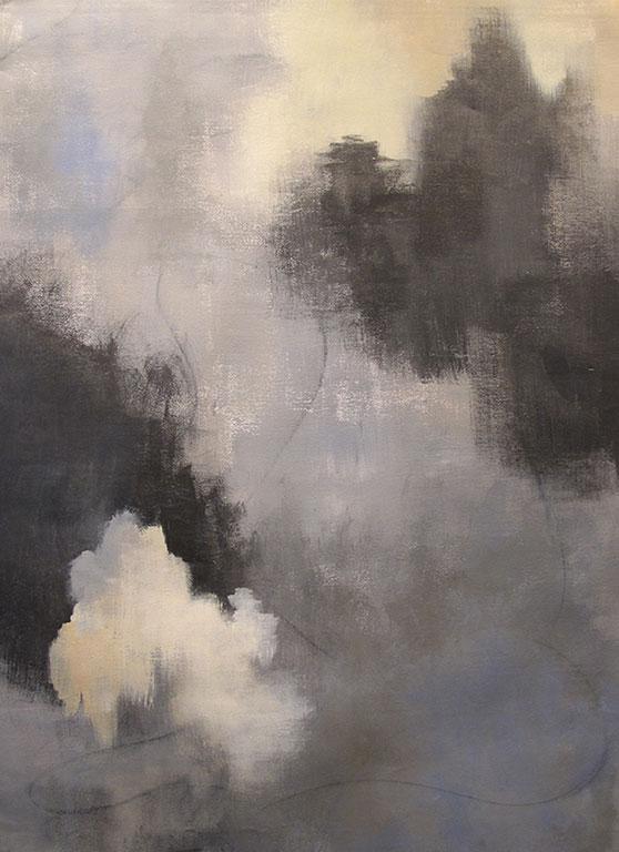PASSAGE - Acrylique et graphisme sur toile - 40 x 26 po / 102 x 66 cm