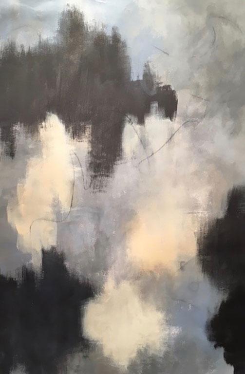 TÉMOIGNAGE - Acrylique et graphisme sur toile - 40 x 26 po / 102 x 66 cm