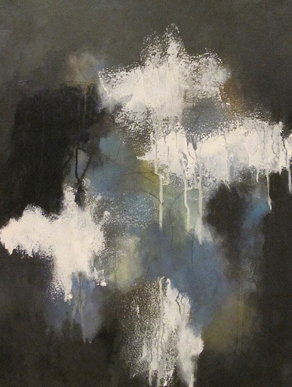 ENTRE-TEMPS - Acrylique et techniques mixtes sur toile - 28 x 20 po / 71 x 51 cm