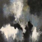À PROPOS - Acrylique et techniques mixtes sur toile - 28 x 20 po / 71 x 51 cm