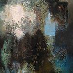 PRISE DE PAROLE - Acrylique et techniques mixtes sur toile - 30 x 15 po / 76 x 38 cm