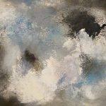 LES MOTS QUI TOUCHENT - Acrylique et techniques mixtes sur toile - 14 x 18 po / 36 x 46 cm