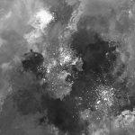 MYSTÈRE - Acrylique sur papier marouflé sur bois - 25 x 19 po / 63.5 x 48 cm